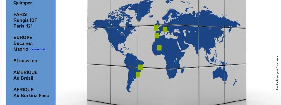 Présents sur tous les continents